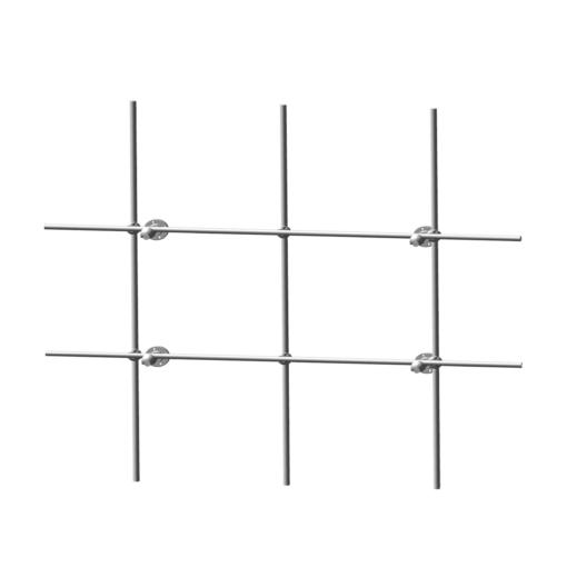 Aluminum Back Frame Lattice Monkey Bars for Fume Hoods
