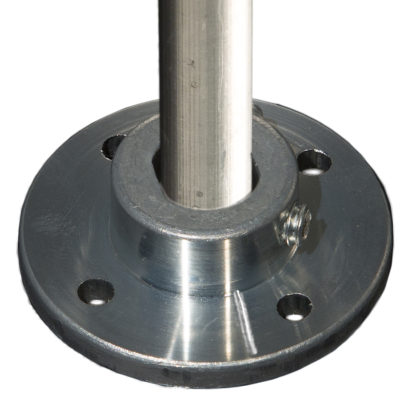 "Aluminum 1/2"" Rod Base plate Mount"