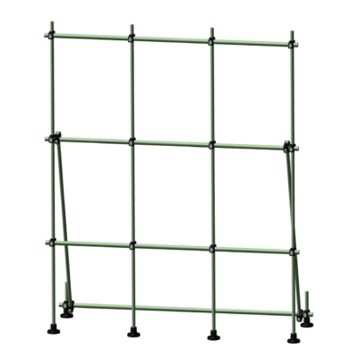 Free Standing Fiberglass Table Top Laboratory Scaffolding