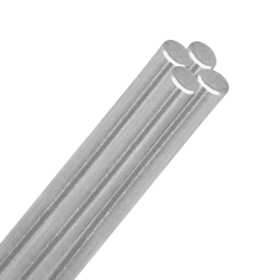 round support rod polished